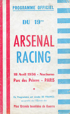 Racing Paris v. Arsenal 18/4/1956 Friendly
