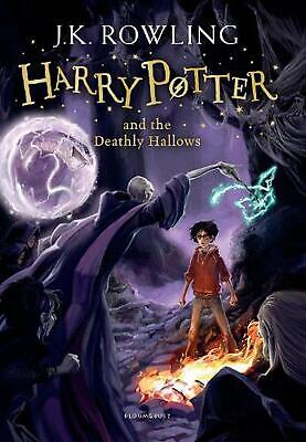 Harry Potter and the Deathly Hallows by J.K. Rowling Paperback Book Free Shippin