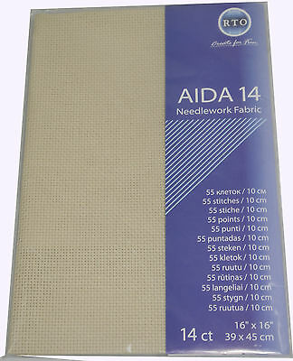 AIDA 14 Count cross stitch fabric - 39 cm x 45 cm