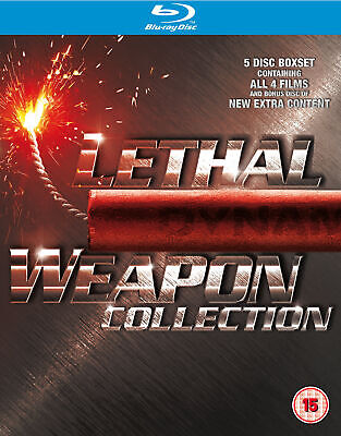 Lethal Weapon 1 - 4 Collection Box Set (5 Discs) (Blu-Ray) (C-15)