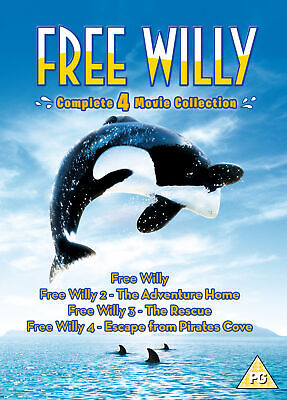 Free Willy 1-4 (DVD) Complete 4 Movie Collection