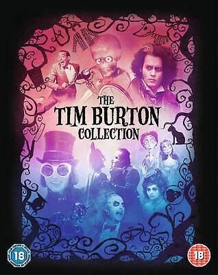 Tim Burton Collection (inc Batman, Corpse Bride + 6 more) (Blu-Ray) HW