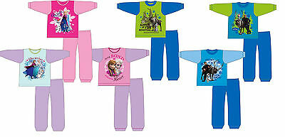GIRLS BOYS KIDS DISNEY FROZEN ELSA ANNA OLOF PYJAMAS NIGHTWEAR PJ Toddler 12m-4y
