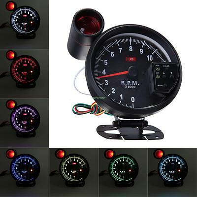 JDM Sport Universal Cars 11K RPM Tachometer 7 Color LED Gauge w/ Shift Light New
