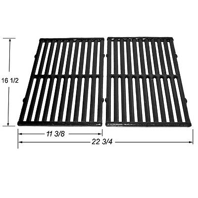Universal Gas Grill Replacement Porcelain Coated Cast Iron Cooking Grid JGX252