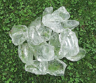 "Seedeco® Glassteine Glasblocks 20kg ""Made in Germany"" Farbe Klar Clear 604-25"