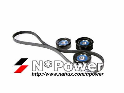 Drive Belt Idler Pulley Kit Holden Commodore Vs 04.95 - 07.97 V6 3.8 With Ac