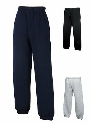 New Kids Boys Girls Fruit Of The Loom Jogging Bottoms Trackies Back To School