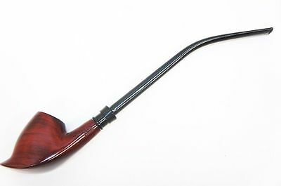 "Smoking Tobacco Pipe 12"" Long Volcano Churchwarden Pipe w/ Straight & Bent Stem"