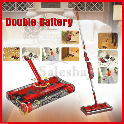 Electric Cordless Swivel Sweeper Quad Brush Mop Bagless Vacuum Cleaner