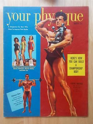 YOUR PHYSIQUE bodybuilding muscle magazine/STEVE REEVES 3-52