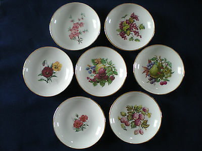 Naaman Made in Israel Set of 7 Bowls Plates Fruit Flowers
