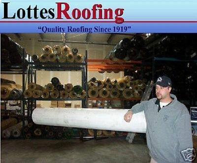 """10' x 25' WHITE 60 MIL EPDM RUBBER ROOF KIT W/ADHESIVE, 6"""" X 25' TAPE"""