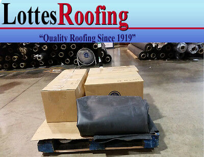 15' x 50' BLACK 45 MIL EPDM RUBBER ROOF ROOFING BY LOTTES COMPANIES