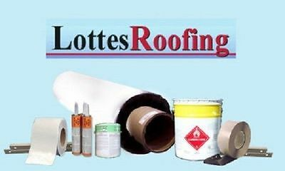 WHITE EPDM Rubber Roofing Kit COMPLETE - 750 sq.ft BY THE LOTTES COMPANIES