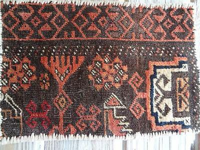 ANTIQUE TURKISH HAND WOVEN  KILIM  WOOL BAG   11 X 16  brown beige rust