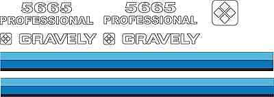 GRAVELY 5665 Professional Tractor Hood Decals