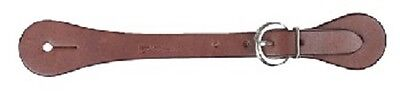 HKM Western Leather Riding Boot SPUR STRAPS Dark Brown buckle horse pony ROUND