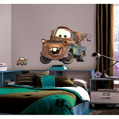 New Giant MATER WALL DECALS Disney Cars Tow Truck Bedroom Stickers Kids Decor