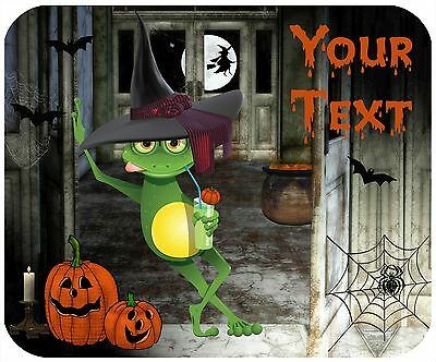 Mouse Pad Custom Thick Mousepad-Halloween Frog-Personalize With Any Text
