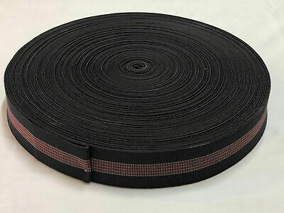 Upholstery 50 metre Elastic webbing furniture 50 metre roll 4 stripe 50mm wide
