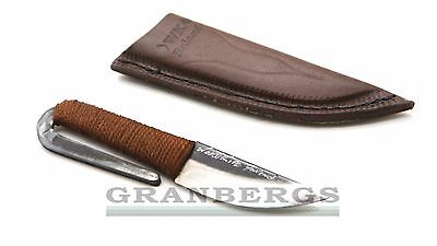 Kellam Viking Knife HM10 Small Viking Carbon Steel Knife w/Brown Sheath Finnish