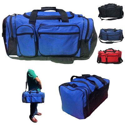 """20"""" Large Heavy Duty Strong Duffle Bags Travel Sports School Gym Carry Luggage"""