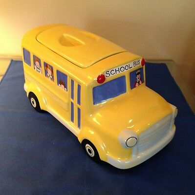 SCHOOL BUS COOKIE JAR TREAT CANISTER