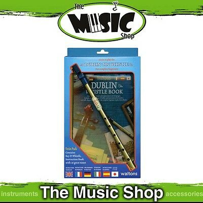 New Waltons Dublin Tin Whistle Pack with Instruction Book - Learn to Play