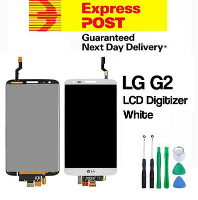 NEW LG G2 D802 LCD Digitizer Touch Screen Assembly Replacement White