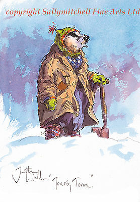 Funny Badger Quality Christmas cards pack of 10.C394x TOASTY TOM