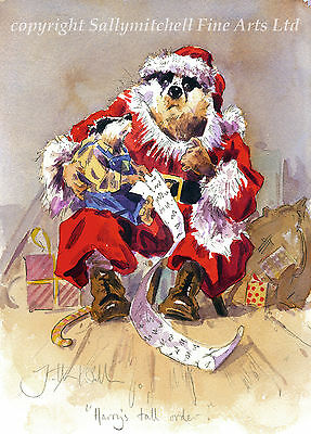 Funny Badger Quality Christmas cards pack of 10.C360x HARRY'S TALL ORDER