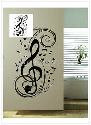 Removable Music Notes Wall Sticker Mural Vinyl Art Decal Home Decor GBW