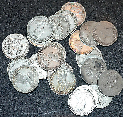 1 x AUSTRALIAN SHILLING 925 STERLING SILVER COIN 1910-1945 GREAT GIFT