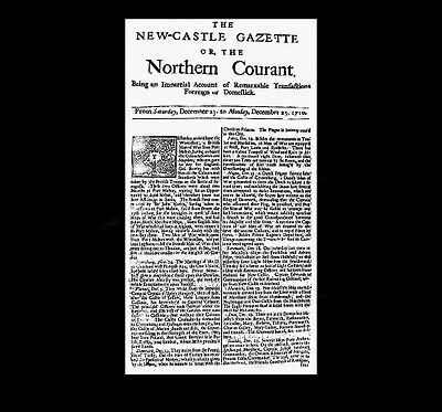 Dollshouse Miniature Newspaper - 1710 Newcastle Gazette
