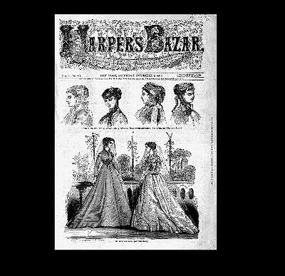Dollshouse Miniature Newspaper - 1867 Harpers Bazar