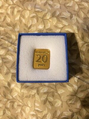 New Walmart Spark 20 Years Of Service Pin, Never Worn, Still In The Original Box