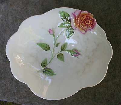 ROYAL WINTON TEA ROSE RELIEF WARE - White Large Serving Bowl