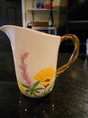 FRANCISCAN - CALIFORNIA POPPY PATTERN WATER PITCHER - ***NO RESERVE***