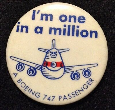 Boeing 747 I'm One In A Million a Boeing 747 Passenger Union  Made