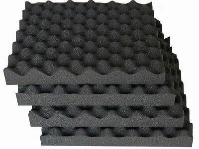 Acoustic foam sound treatment tile pack, convoluted egg profile, studio/music