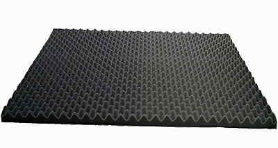 Acoustic foam sound treatment self adhesive panel pack, convoluted egg profile