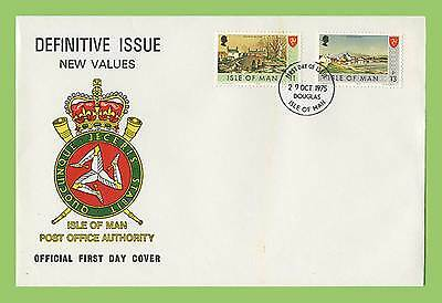 Isle of Man 1975 New Value Definitives on First Day Cover Douglas Cancel