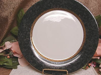 Retroneu, China Dinnerware Imperial Gray Marble. pattern #4903 chop plate