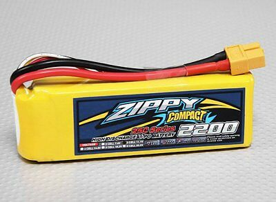 RC ZIPPY Compact 2200mAh 3S 25C Lipo Pack