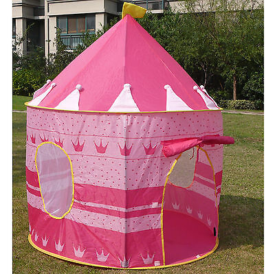 Pink PLay House Kid Child Tent Princess Play Castle for girls Christmas gift