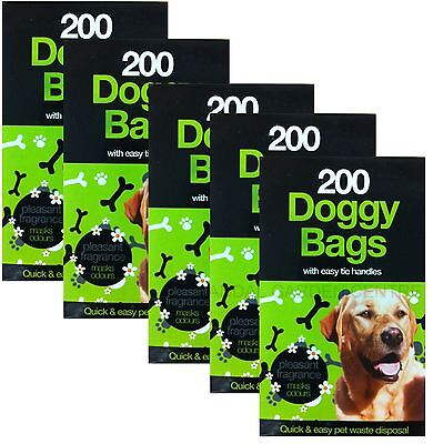 1000 Scented Fragranced Doggy Poo Cat Pet Waste Bags Bumper Value Pack