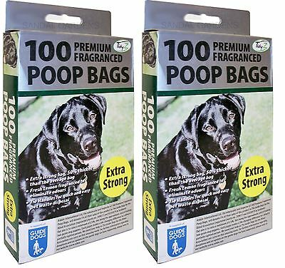 200 Extra Strong Fragranced Scented Doggy Poo Poop Bags