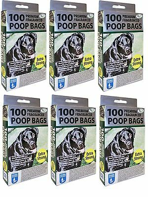 600 X Extra Strong Fragranced Scented Doggy Poo Poop Bags