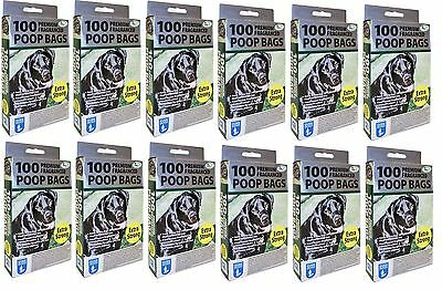 1200 X Extra Thick Strong Fragranced Scented Doggy Poo Poop Bags